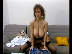 Slim Girl with Big Boobs Vintage Movie