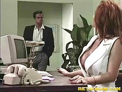 Nurse fucked on her desk