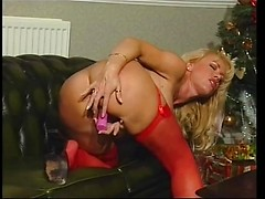Louise Hodges Has The Holiday Spirit In Red Lingerie