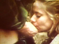 Cute girl violated in the forest by rough man. Stolen retro tape