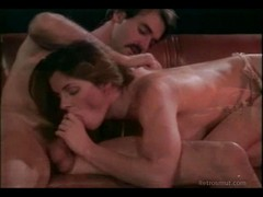 Oral and fuck session between moustached man and his wife