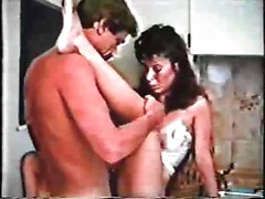 Retro porn video with one man and two women