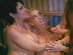 Vintage porn movie with two retro babes