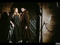 Retro German naked whores enslaved in dungeon for sex pleasure