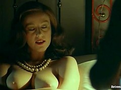 Awesome hot retro MILF seducing really old due for fuck