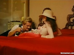 Mind blowing hairy retro fuck in classic 1970 porn film