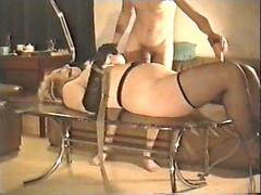 Amazing BDSM retro movie with amateur blonde housewife fucked in bondage