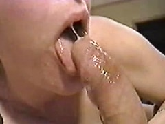 Horny blonde mom deepthroating big cock in amazing retro porn