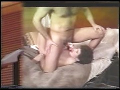 Shaved pussies of mature whores licked and rubbed in retro close up porn