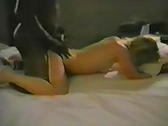 Black cock takes his wife from behind as he watches and films the hottie